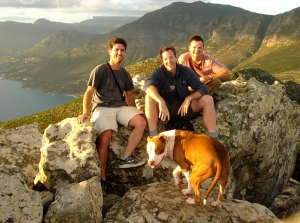 Myself, Sean, JP and his faithful dog Legend at the summit, about an hour's walk from where we parked.