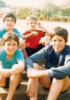 My cousins Dom and Mike in front, Dan and I behind