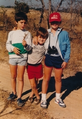 Myself, Dan and Ben, probably in Lk McIlwaine Recreational Park near Harare