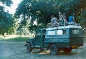 Atop Dennis's Land Cruiser, Mana Pools NP, Zimbabwe.