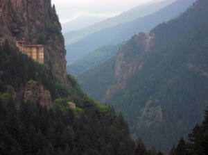 Nestling high in the foothills of the Pontic Range near the Black Sea city of Trabzon is this abandoned monastery, now a major tourism attraction.