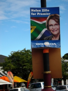 Leader of the DA, Helen Zille