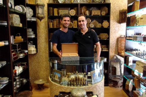 My friend Samer in the curio shop in which he worked near Sultanahmet. I bought an ornate box studded with mother-of-pearl and other semi-precious minerals for a not so inconsiderate sum of money.