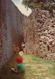 At Great Zimbabwe Ruins with my cousins near Masvingo, Zimbabwe.