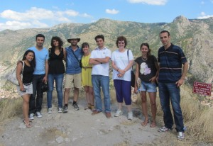 Above the town of Amasya on the site of an old fortress with fellow teachers from Ahi Kolegi in Merzifon.