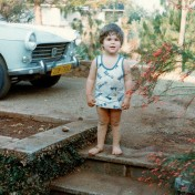 This is the young me outside our front door on the steps leading down from the gravel driveway. I don't remember the Peugeot behind me although it was a popular model on Zimbabwean roads. It wouldn't surprise me if there are a few of them still knocking around the countryside.