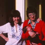 An early photo of my parents and me as a baby. London, UK.