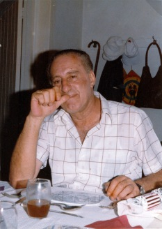 My paternal grandfather or Papou at the dining table near the front door entrance.