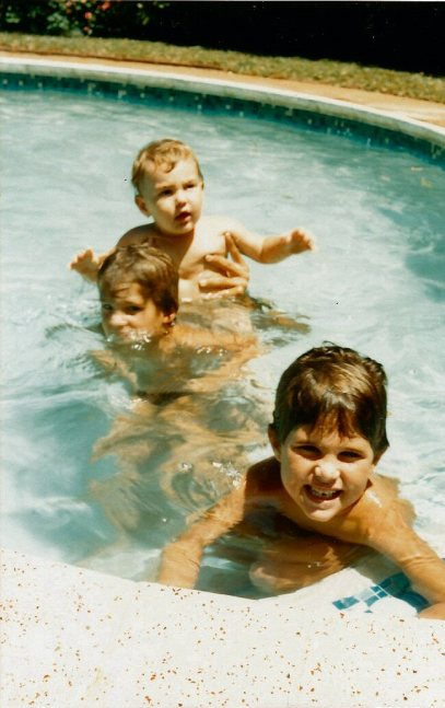 We all learnt to swim in the pool at my grandparents house in Durban.