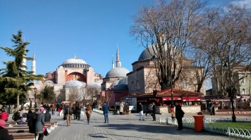 The Aya Sofya as seen from the direction of the Blue Mosque