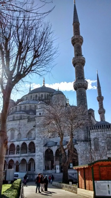 The approach to the Blue Mosque from the north, as if coming from the Aya Sofia.