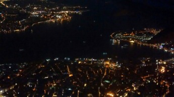 On the approach to Attaturk Airport we flew over the Bosphorus