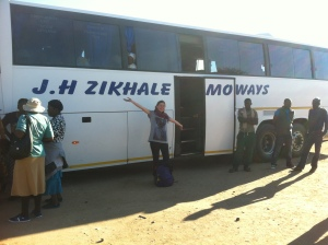 Our chicken bus to the Plumtree Border Post